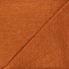 Openwork lurex knitted fabric - orange Nino x 10cm
