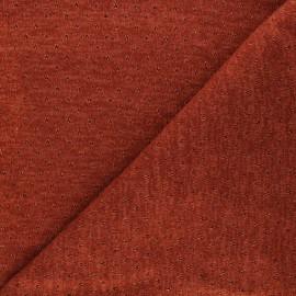 Tissu maille lurex ajouré Nino - rouille x 10cm