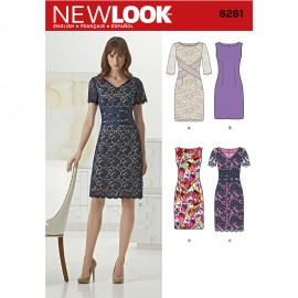Asymmetrical Dress Sewing Pattern for Woman - New Look 6596