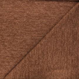 Openwork lurex knitted fabric - camel brown Nino x 10cm