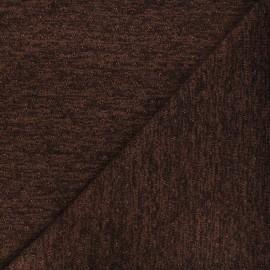 Openwork lurex knitted fabric - brown Nino x 10cm