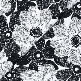 Tissu coton Timeless Treasures - Dotted flowers - noir/blanc x 10cm