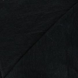 Tissu maille lurex ajouré Nino - noir x 10cm