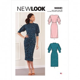 Pleated Dress Sewing Pattern for Woman - New Look 6681