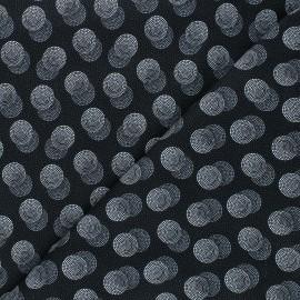 Tissu coton Timeless Treasures - Double dots - noir x 10cm