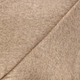 Tissu maille Caramella  - camel chiné x 10cm