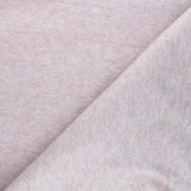 Tissu maille Caramella  - eau de rose chiné x 10cm