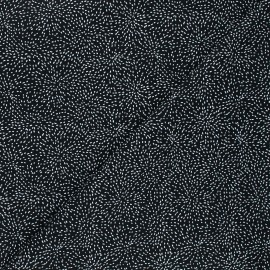 Timeless Treasures cotton fabric - black Moving tiny dot x 10cm