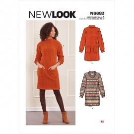 Sweat Dress Sewing Pattern for Woman - New Look 6683