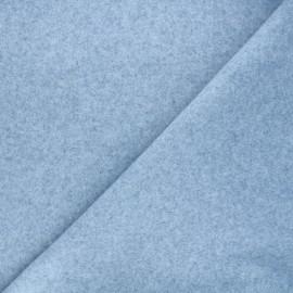 Tissu jersey milano gratté - bleu clair x 10 cm
