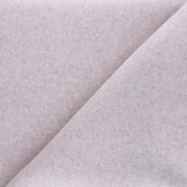 Tissu jersey milano gratté - eau de rose x 10 cm
