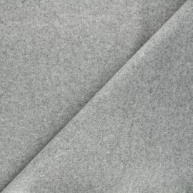 Tissu jersey milano gratté - vert de gris x 10 cm