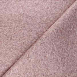 Tissu jersey milano gratté - marsala x 10 cm