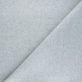 Tissu jersey milano gratté - grège x 10 cm