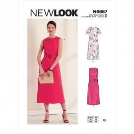 Patron Robe Droite Femme - New Look 6667