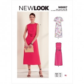 Straight Dress Sewing Pattern for Woman - New Look 6667