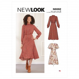 Fluid Dress Sewing Pattern for Woman - New Look 6682