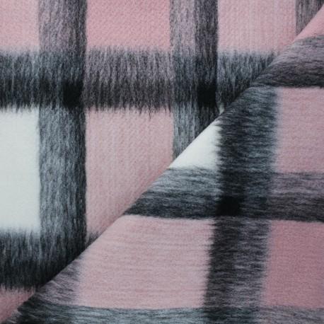 Tissu drap manteau Nelson - rose clair x 10cm