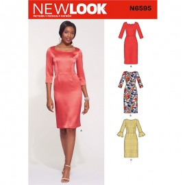 Elegant Dress Sewing Pattern for Woman - New Look 6595