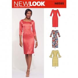 Patron Robe Élégante Femme - New Look 6595