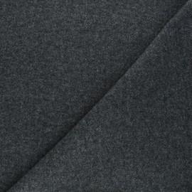 Plain coat sheet fabric - dark grey Moscou x 10cm