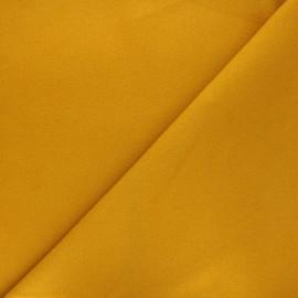 Tissu drap manteau uni Moscou - jaune moutarde x 10cm