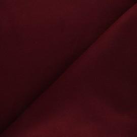 Tissu drap manteau uni Moscou - bordeaux x 10cm