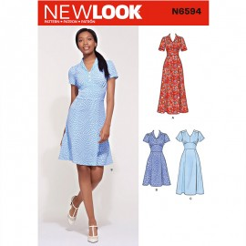 Dress Sewing Pattern for Woman - New Look 6594