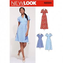 Patron Robe Femme - New Look 6594