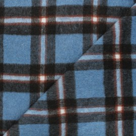 Tissu drap de laine Ally - bleu x 10cm