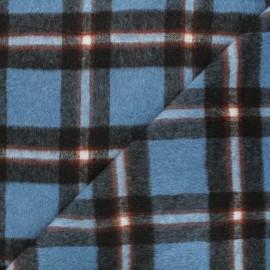Wool fabric - blue Ally x 10cm