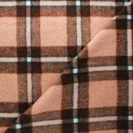 Tissu drap de laine Ally - rose clair x 10cm