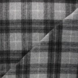 Tissu drap de laine Dorian - gris clair x 10cm