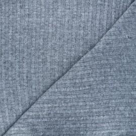 Knit fabric - light grey Mélusine x 10cm
