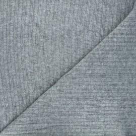 Tissu maille tricot Mélusine - vert de gris x 10cm