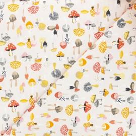 Tissu coton Dear Stella Frond of you - Don't give a shitake - nude x 10cm