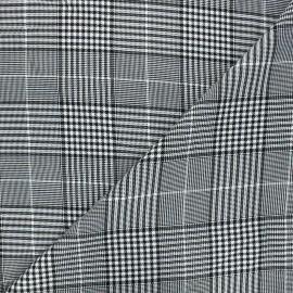 Polyviscose elastane fabric - white Oxford x 10cm