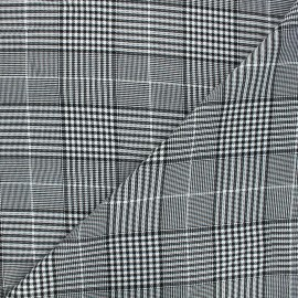 Tissu polyviscose élasthanne Oxford - blanc x 10cm