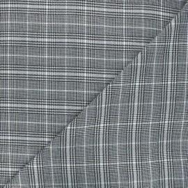 Polyviscose elastane fabric - white Billy x 10cm