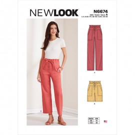 Paper Bag Trousers Sewing Pattern for Woman - New Look 6674