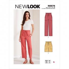 Patron Pantalon Paper Bag Femme - New Look 6674