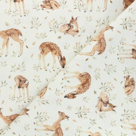 Dear Stella cotton fabric Little fawn & friends - raw Little fawn x 10cm