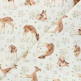 Tissu coton Dear Stella Little fawn & friends - Little fawn - écru x 10cm