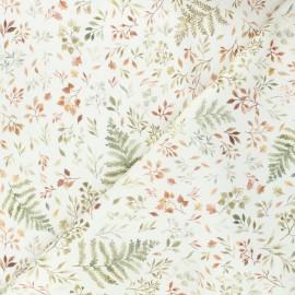 Tissu coton Dear Stella Little fawn & friends - Autumn ferns & leaves - écru x 10cm