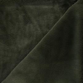 Faux fur fabric - khaki Calista x 10cm