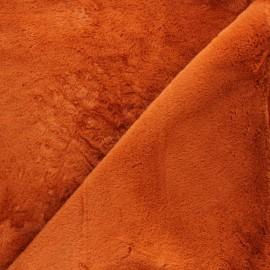 Faux fur fabric - orange Calista x 10cm