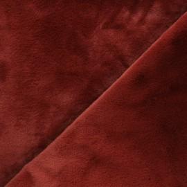 Faux fur fabric - terracotta Calista x 10cm