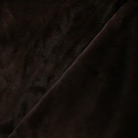 Faux fur fabric - brown Calista x 10cm