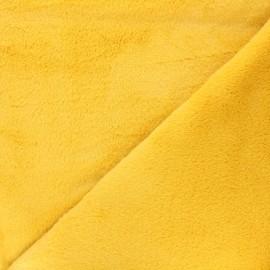 Faux fur fabric - yellow Calista x 10cm