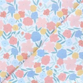 Tissu coton Dear Stella Shell we dance - Picked by mermaids - blanc x 10cm